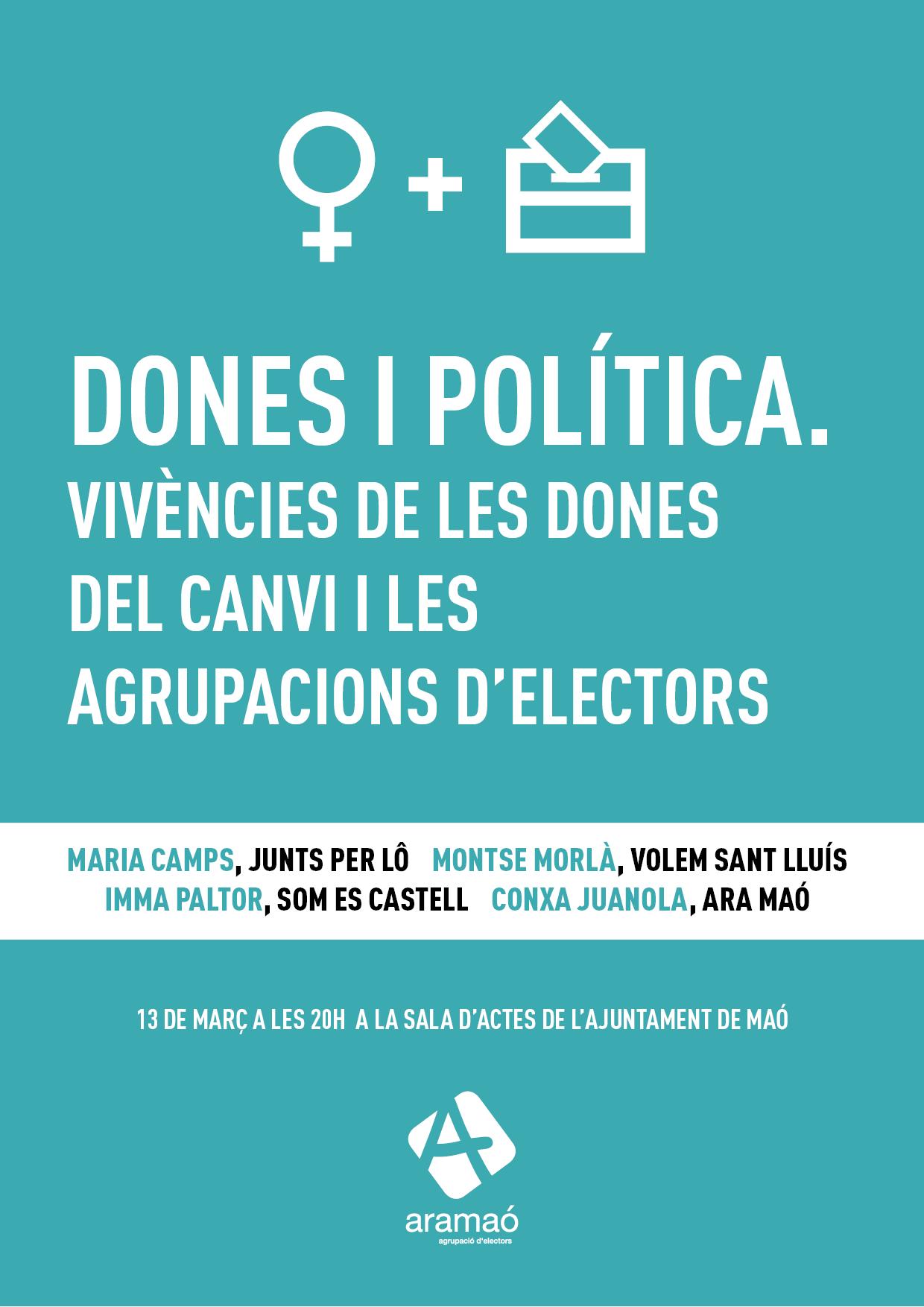 cartell dones i política