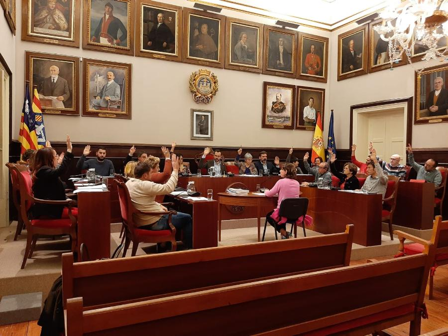 Ple municipal de gener de 2020 de l'Ajuntament de Maó