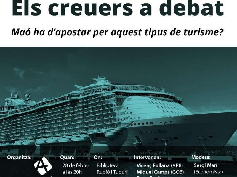 Ara Maó organitza la taula rodona 'Els creuers a debat. Maó ha d'apostar per aquest tipus de turisme?'