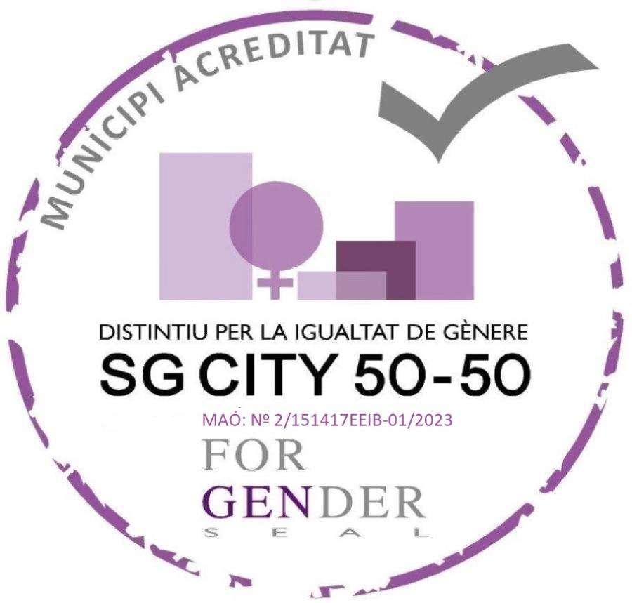 Maó es converteix en la primera ciutat de Menorca en rebre la certificació internacional SG CITY 50-50, a favor de la igualtat de gènere