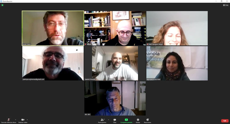 Reunió telemàtica amb Unides Podem